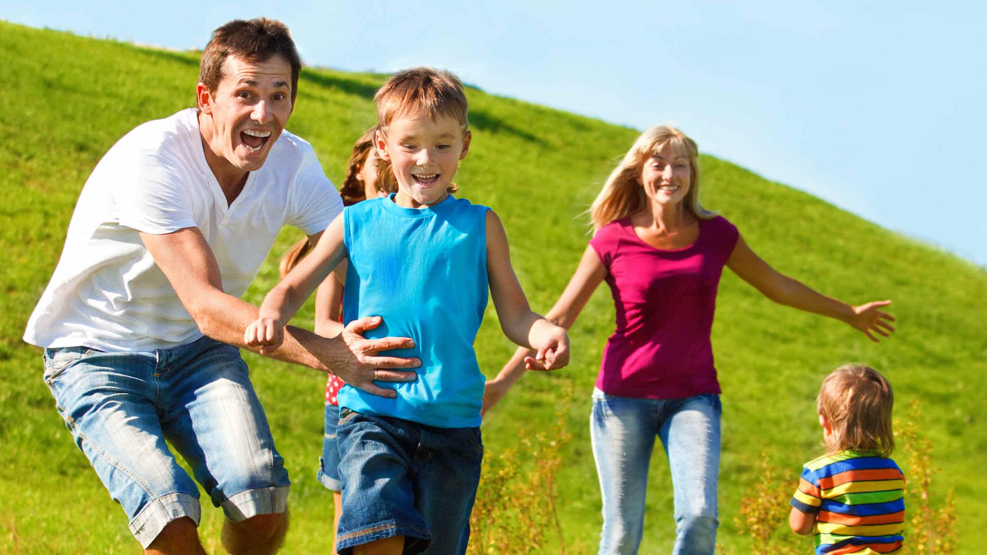 Sport con la propria famiglia