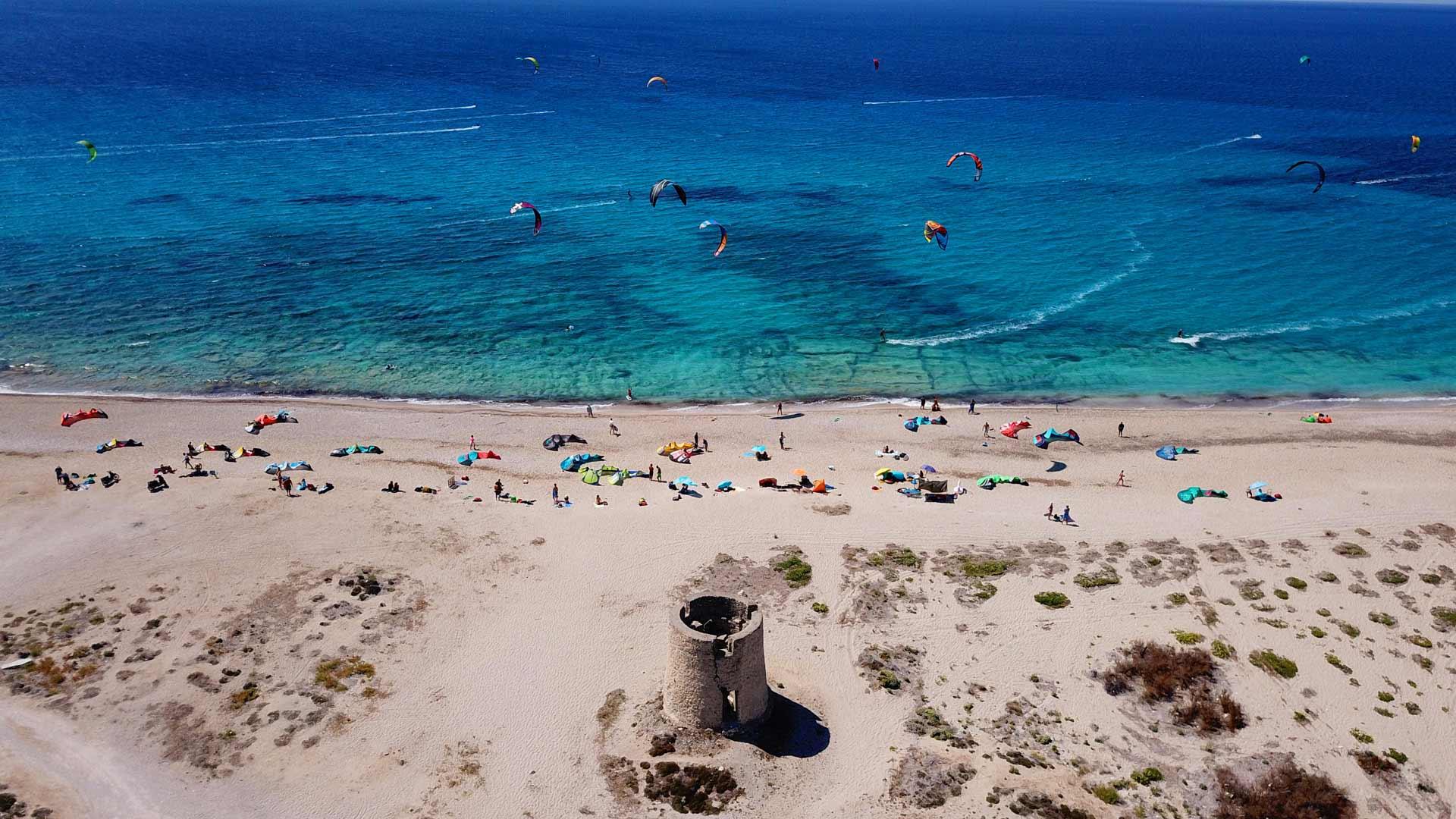 Milos Beach Lefkada, Spiaggia per Kitesurf e Windsurf
