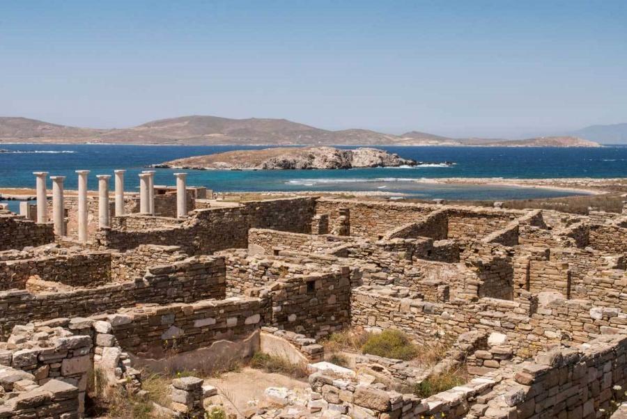 Sito archeologico di Delos a Mykonos