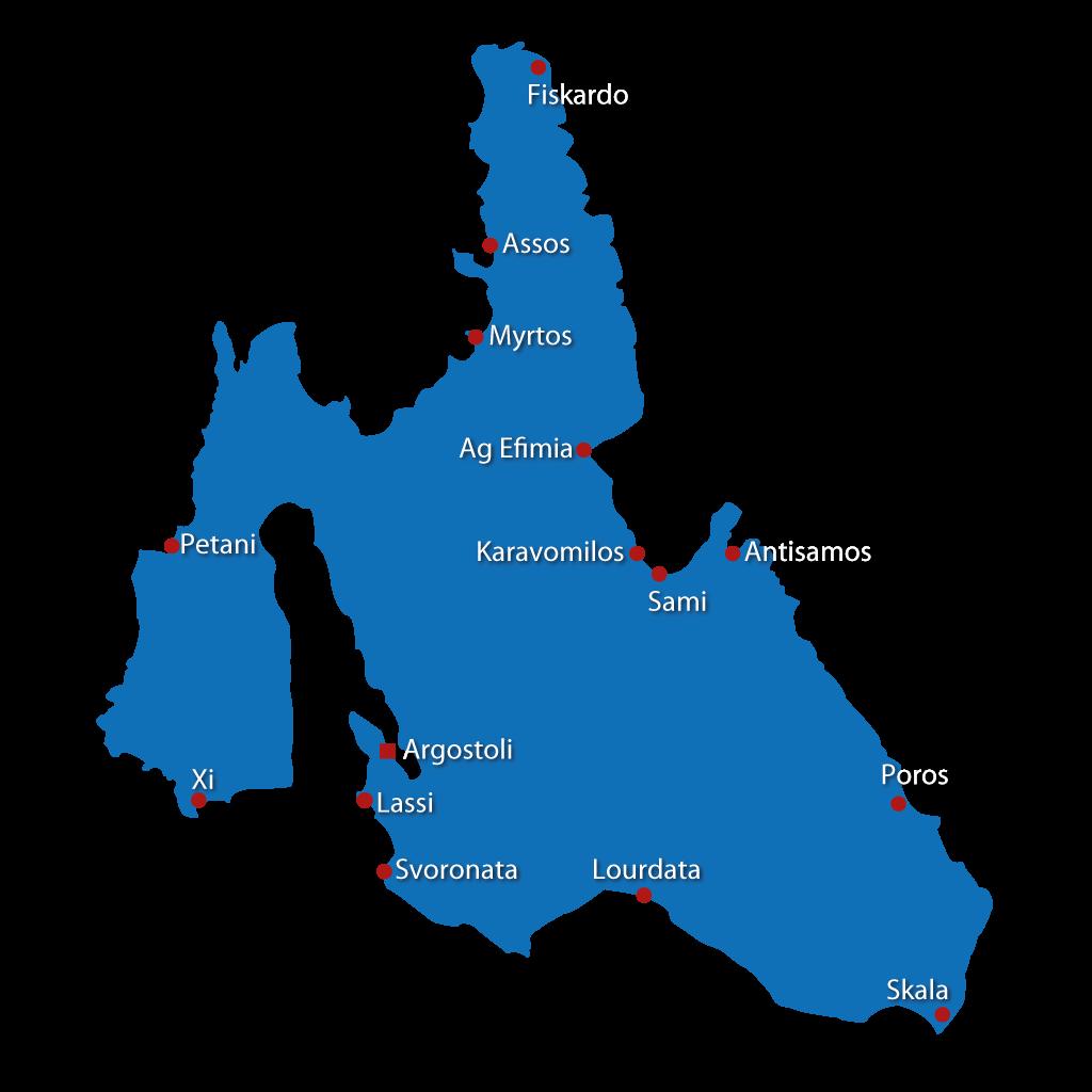 Mappa di Cefalonia