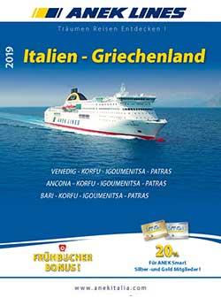 Catalogo traghetti Italia Grecia - DE, Anek Lines 2019