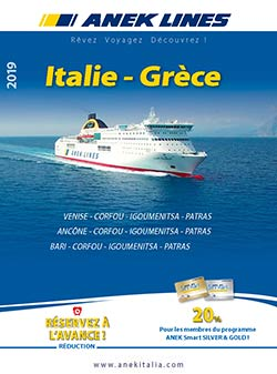Catalogue de ferry Italie Grèce
