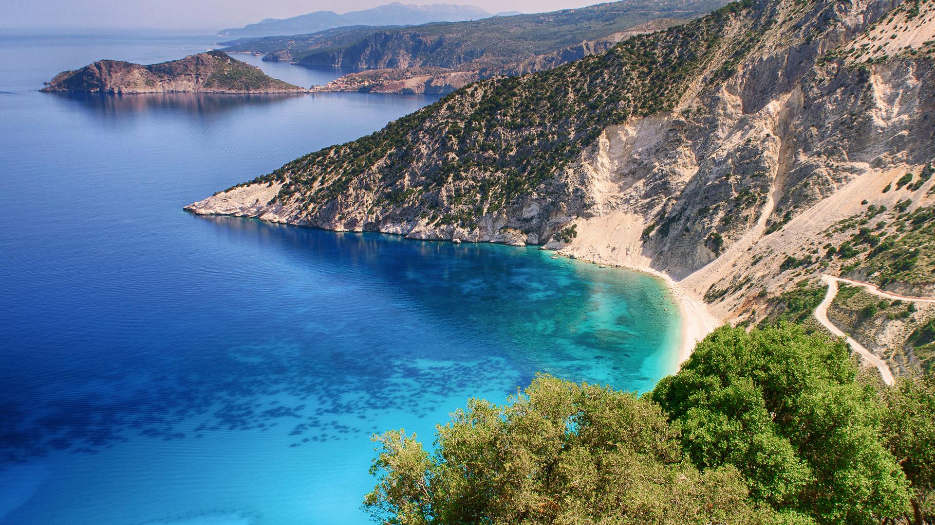 La spiaggia di Myrtos