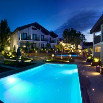 Piscina notte, Aqua Bay Hotel Zante