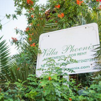 Cartello, Villa Phoenix appartamenti Zante