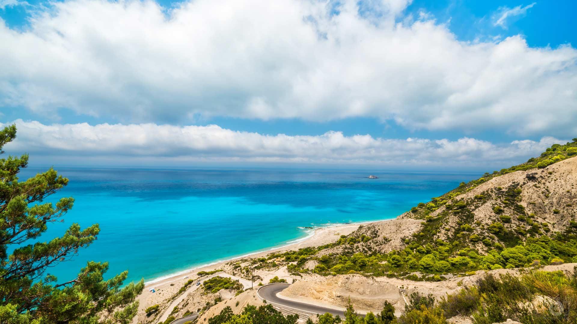 Gialos Beach a Lefkada, Grecia