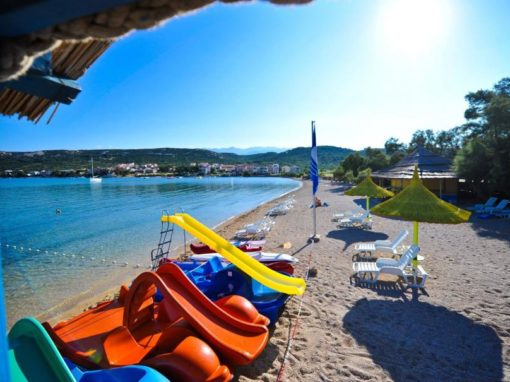 Croazia isola di Pag spiaggia Novalja